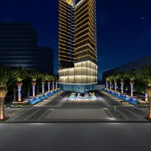 五星级三亚洛克铂金海景酒店订购VOFUWOOD®沃夫伍德浴室浴缸置物架60余套